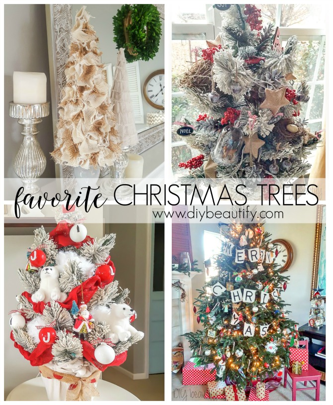Favorite Christmas trees filled with DIY goodness and budget buys! Read more at diy beautify!