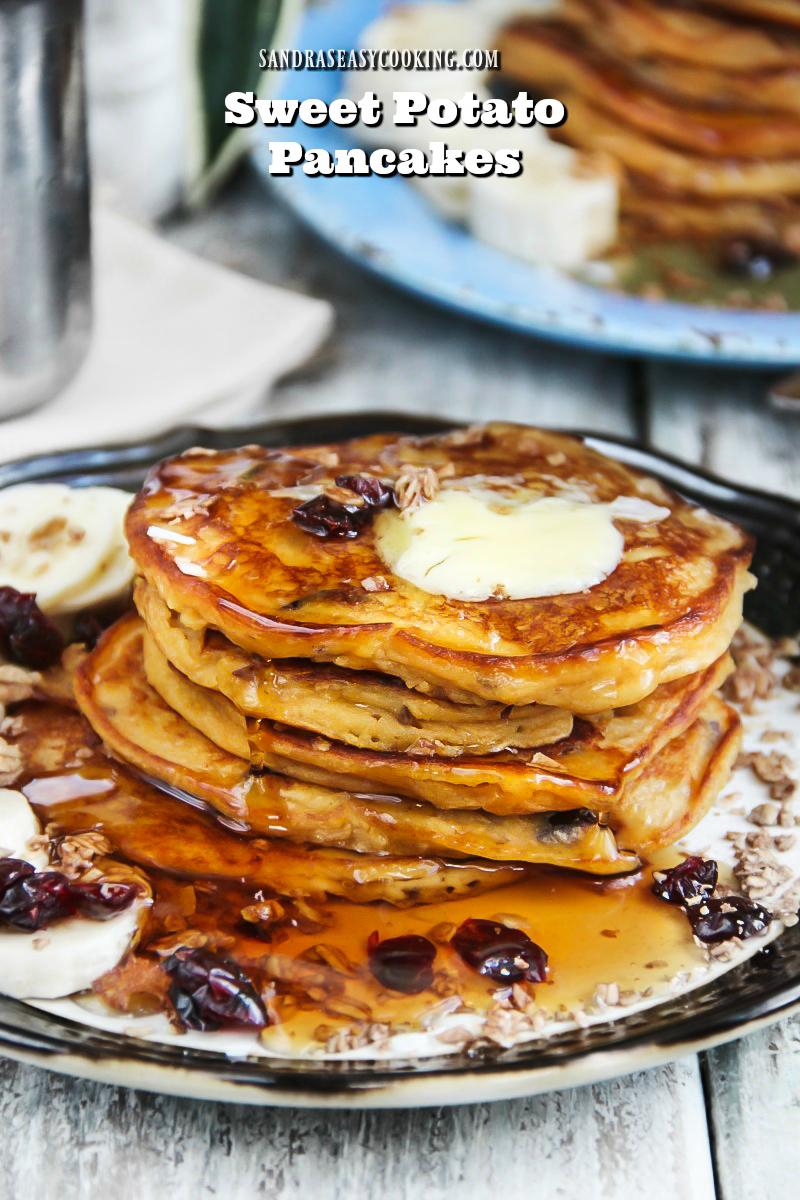 Sweet Potato Pancakes (Gluten Free) - SANDRA'S EASY COOKING
