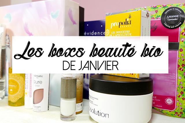 LES BOX BEAUTÉ BIO DE JANVIER