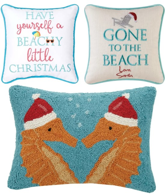 Beach Christmas Pillows