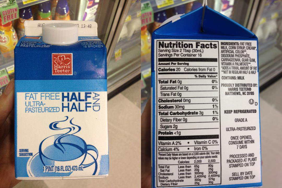 Fat In Half And Half 89