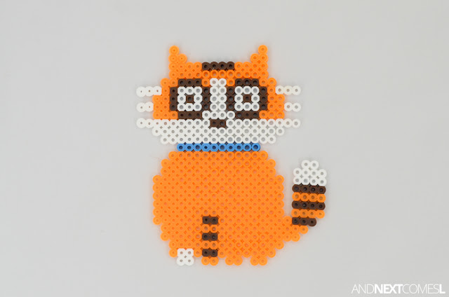 Sassafras the cat perler bead pattern from And Next Comes L