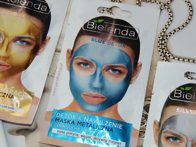 Bielenda, Blue Detox - Detoksykująca maska metaliczna do cery suchej i wrażliwej