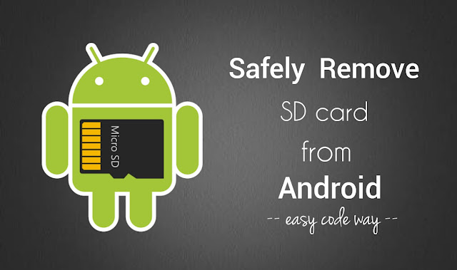 Safely remove SD card from Android
