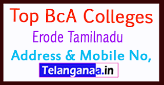 Top BCA Colleges in Erode Tamilnadu