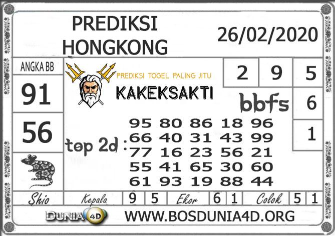 Prediksi Togel HONGKONG DUNIA4D 26 FEBRUARI 2020