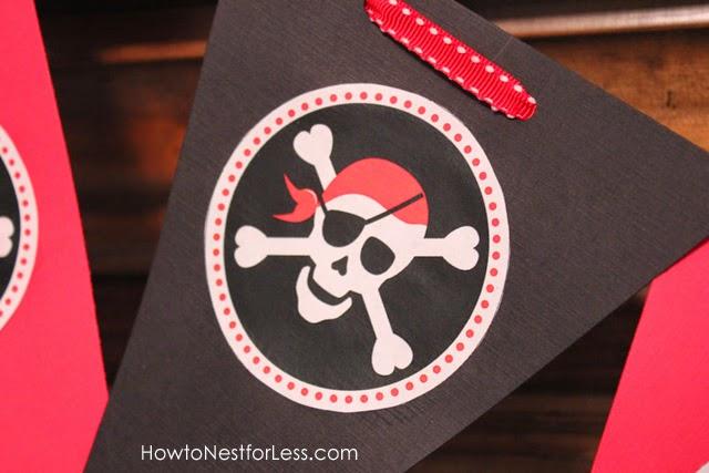 Black and Red Pirate: Free Printable Mini Kit.