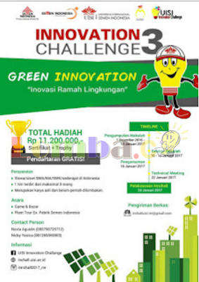 Event Innovation Challenge 3 by Universitas International Semen Indonesia 2017