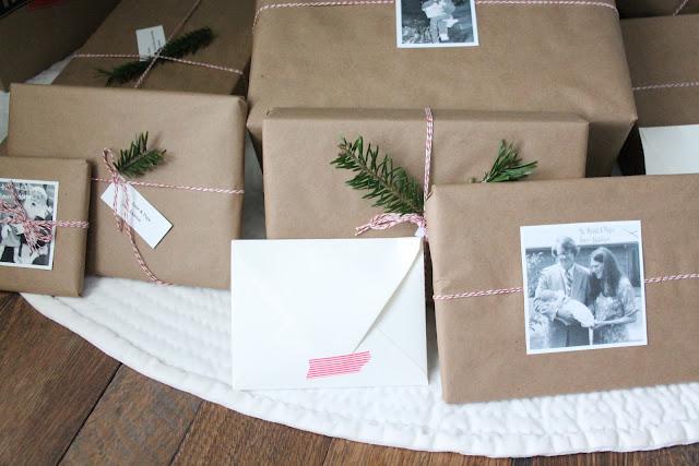 beautiful Christmas gift wrap idea via www.julieblanner.com