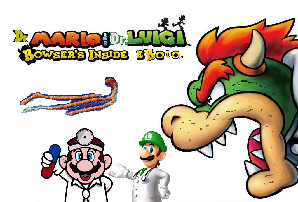 Dr. Mario & Dr. Luigi: Bowser's Inside Ebola game boxart.