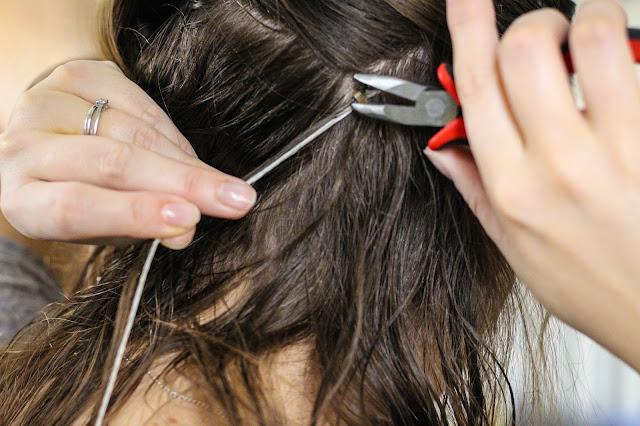 DIY hair feathers