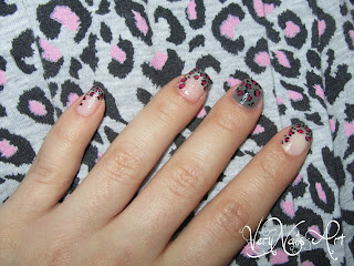 Uñas animal print leopardo