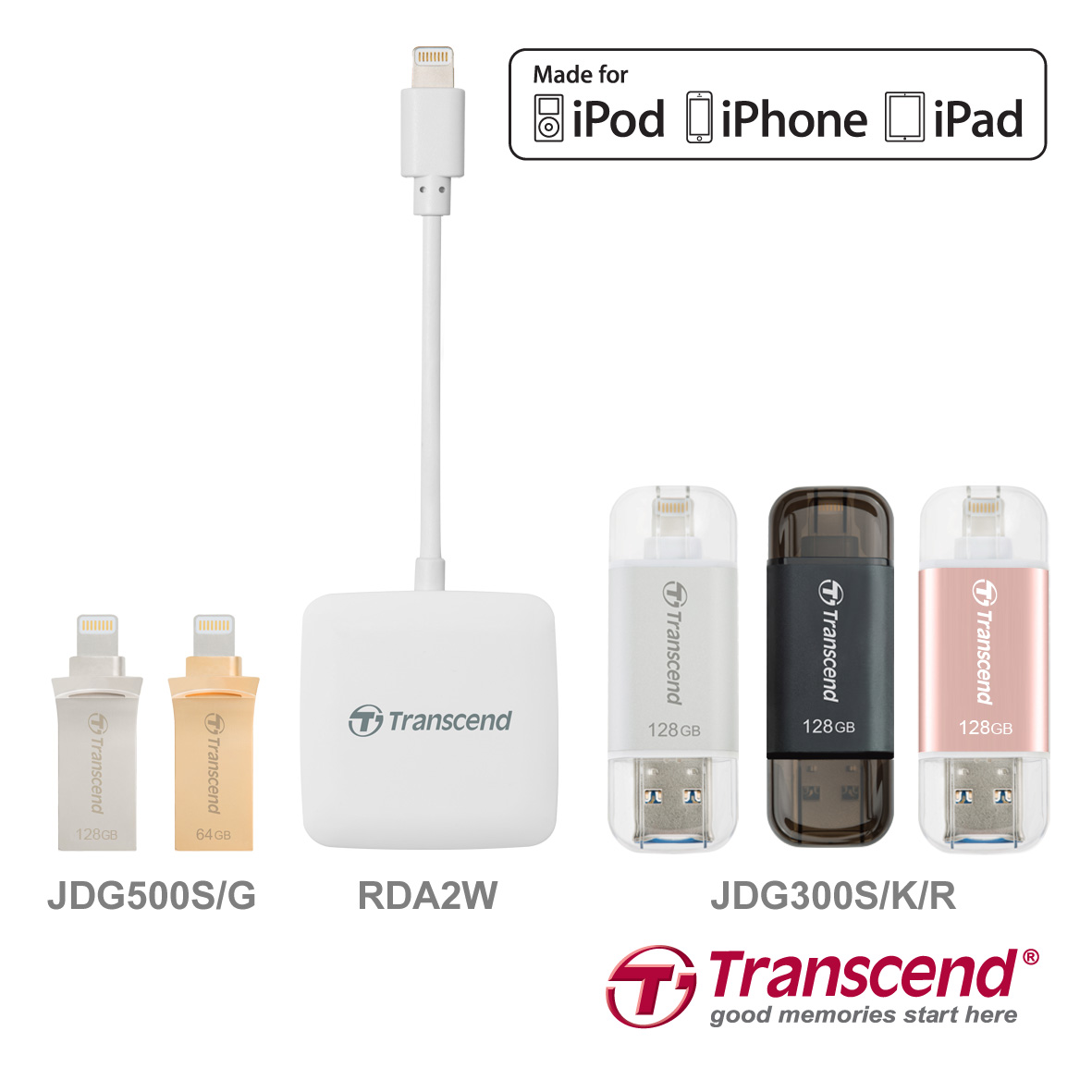 Transcend Complete Lightning Product Line-up for the Latest iOS Devices