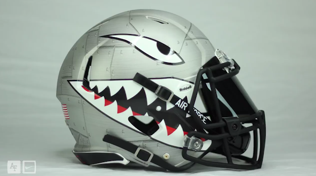 Air Force Football Sharktooth Helmet 2016