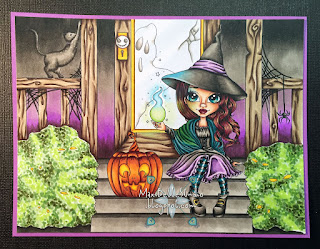 Kit and Clowder Create and Learn September Class Faery Ink Gabbie Halloween Witchfire
