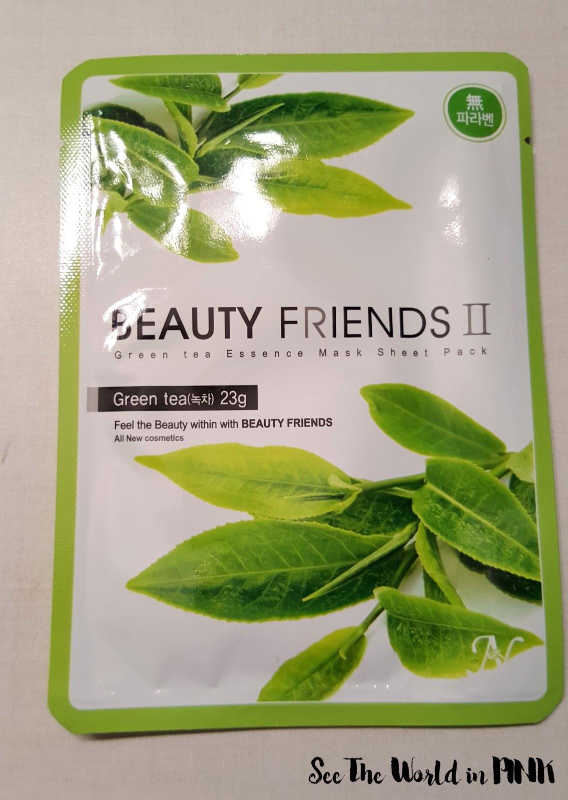 Beauty Friends II Essence Mask Sheet Pack (Green Tea)