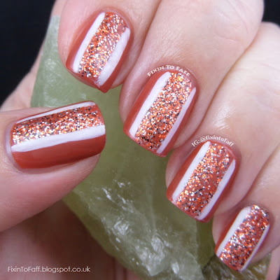 Texas tribute nail art featuring burnt orange OPI Chop-Sticking To My Story and Mentality Revelry under matte top coat.