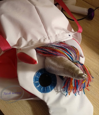 Adzik tworzy - DIY plecak z klapką jednorożec jak uszyć