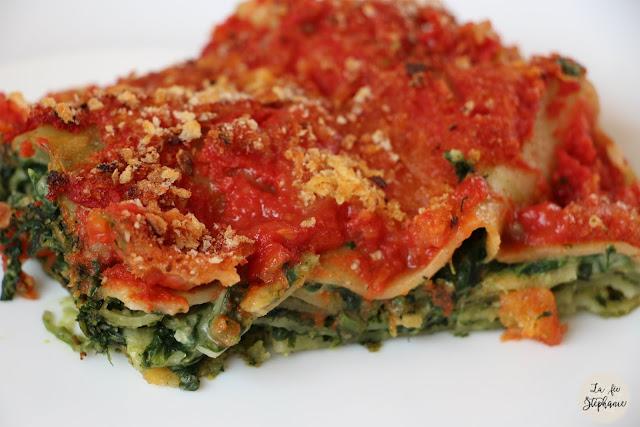 Lasagnes rouges aux pinards et au pesto un plat vegan - Basilic seche a ne pas consommer ...