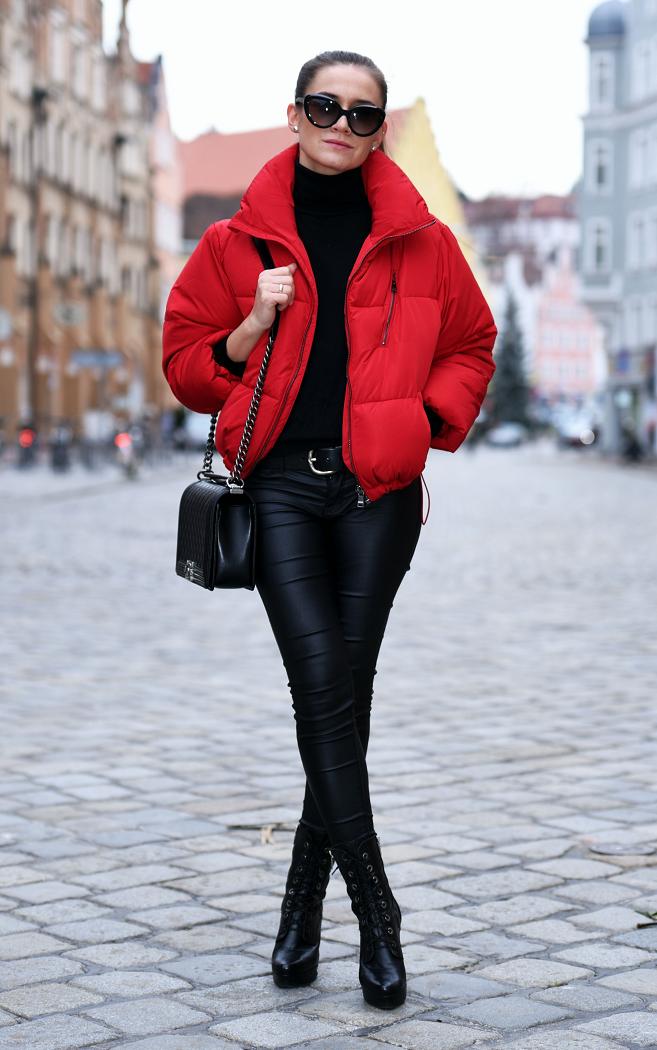 Todays Outfit | Red Puffer Jacket | PolskieSzafiarki.pl i najlepsze blogi blogi modowe ...