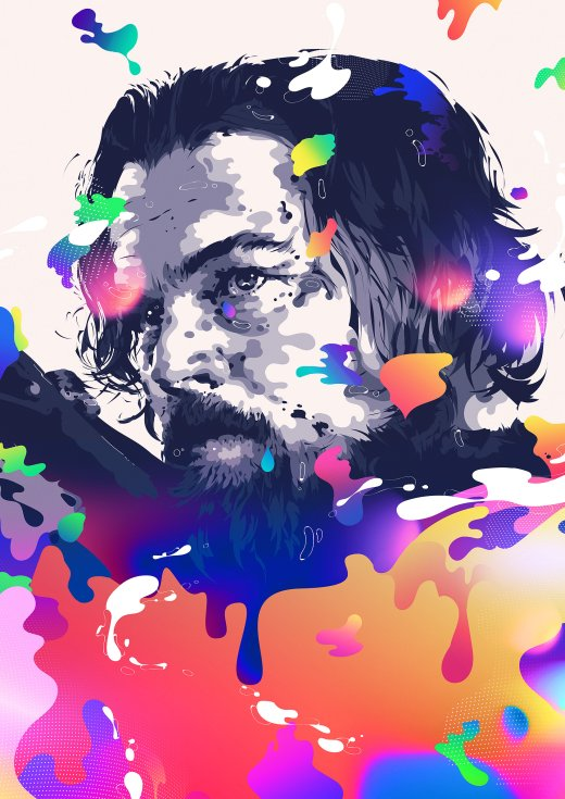 Bram Vanhaeren arte ilustrações retratos psicodélicos coloridos surreais celebridades