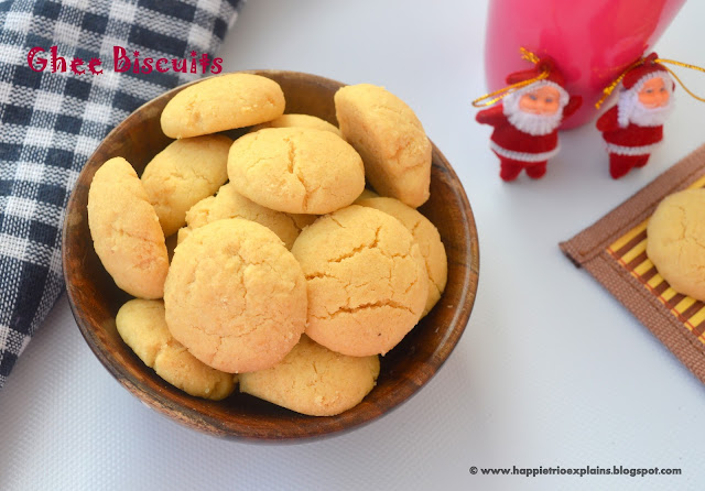 Ghee Biscuits | Nei biscuits | Eggless Ghee Cookies