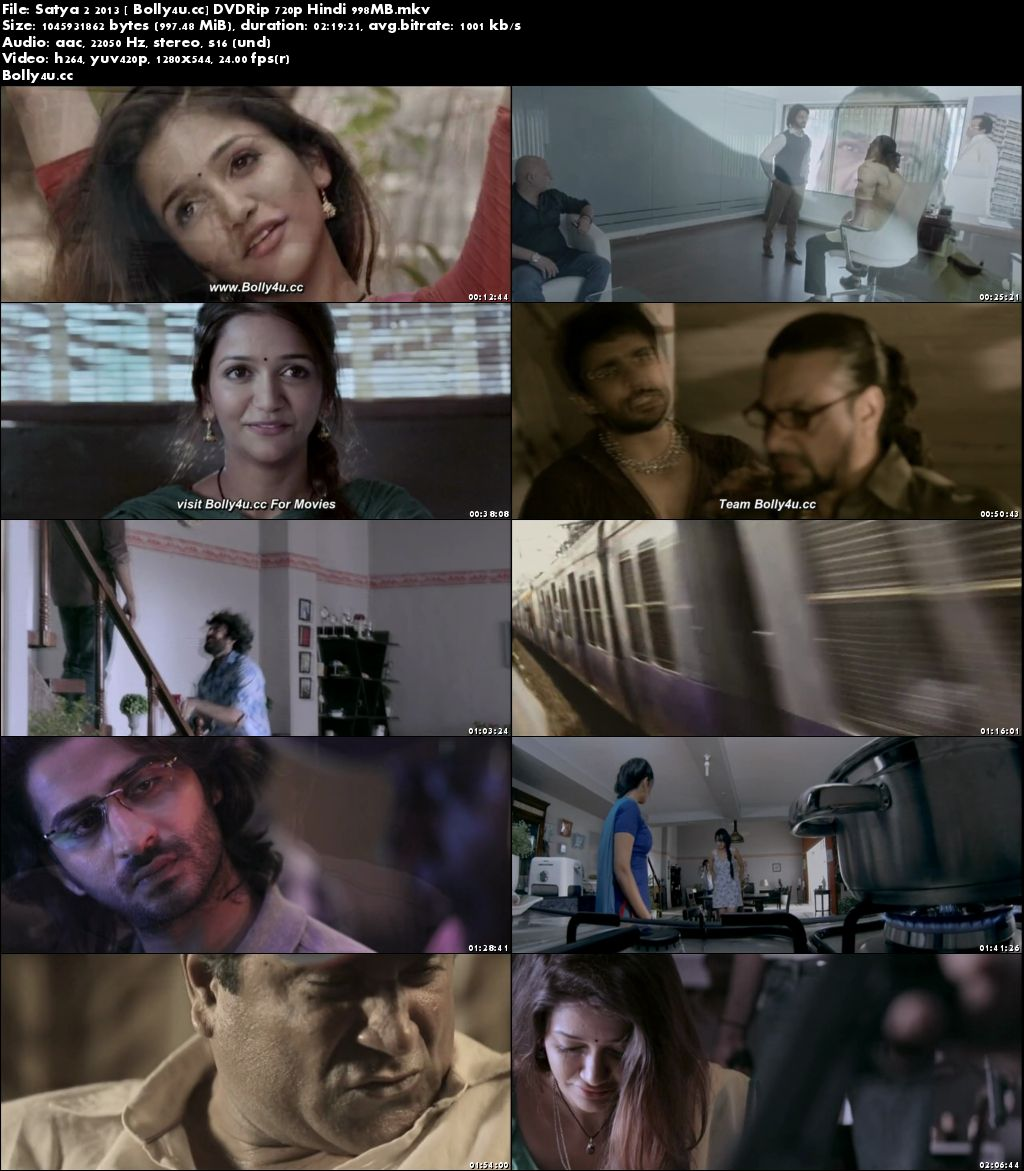 Satya 2 2013 DVDRip 950MB Full Hindi Movie Download 720p