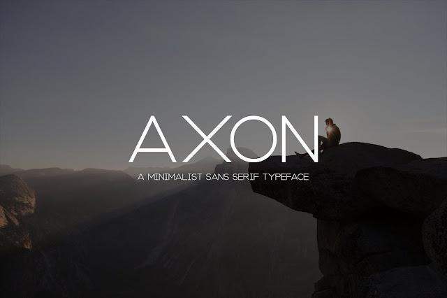 Axon | Minimalist Sans Serif Family Download Font Free