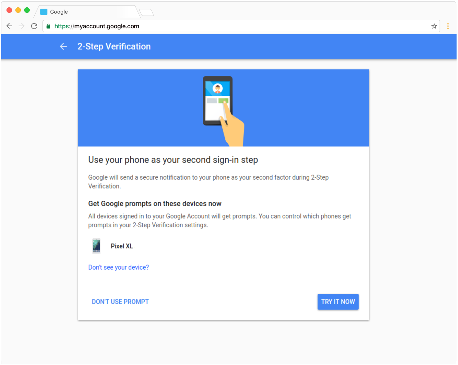 G Suite Updates Blog Making Google Prompt The Primary Choice For 2