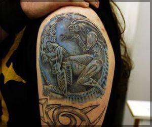 Alien Vs Predator Tattoo | Best Art Designs