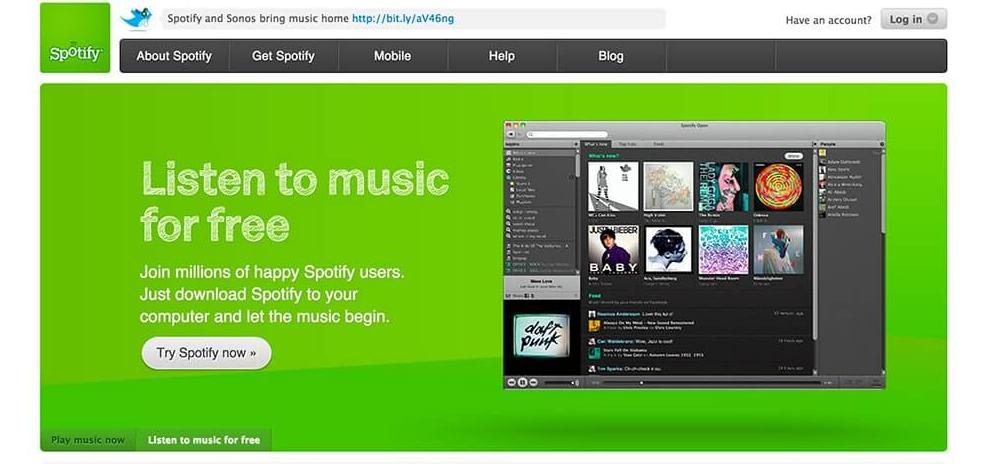Historia de Spotify 2010