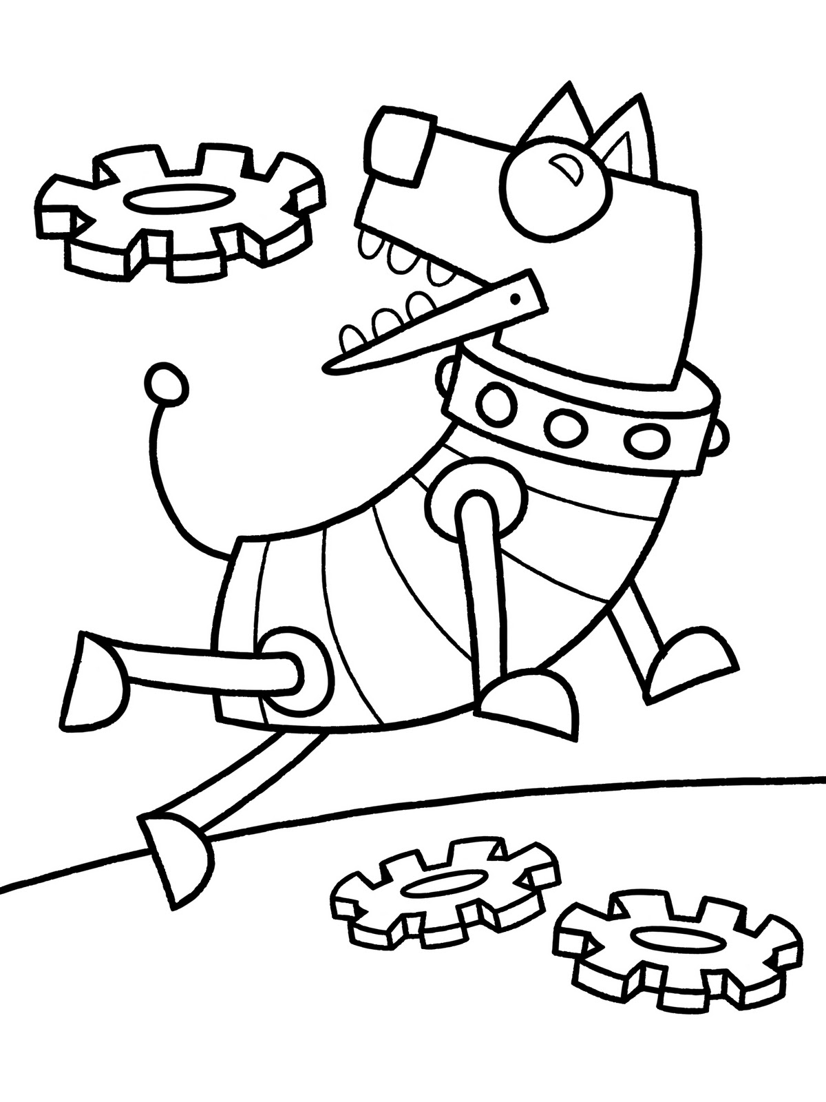 Robot Dog Printable Coloring Sheet For Kids