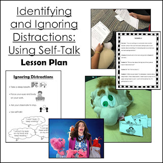 Identifying and Ignoring distractions using self-talk lesson plan