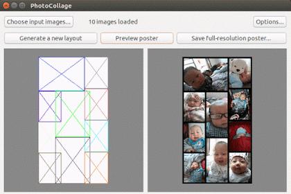 Membuat PhotoCollage di Ubuntu