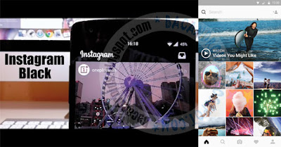 Download Instagram Mod Color Theme Black IG versi 9.3.5 Apk Terbaru