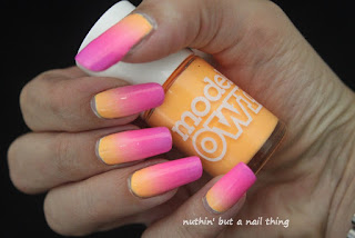 Models Own Polish for Tans - Gradient Nail Art