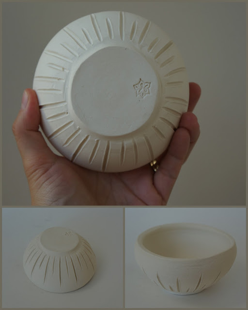 Small unglazed porcelain bowl by Lily L.