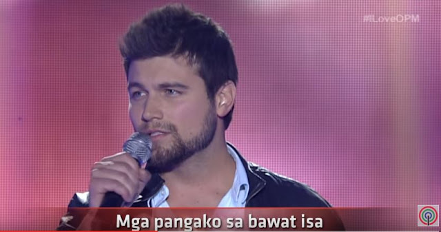 "Ryan Gallagher sings ""Kahit Isang Saglit"" on I Love OPM"