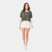 Confeccionado em Jeans modelagem Califórnia: justo com cintura extra alta