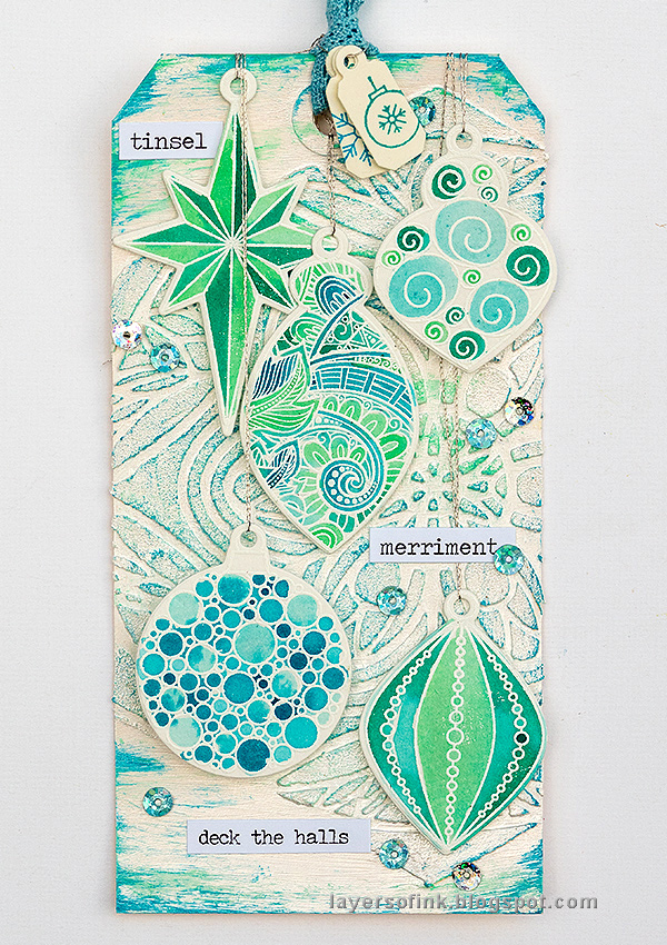 Layers of ink - Textured Ornament Tag Tutorial by Anna-Karin Evaldsson with SSS STAMPtember products