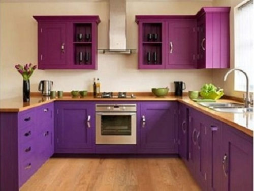 10 cocinas color purpura y morado colores en casa for Cocinas modernas moradas