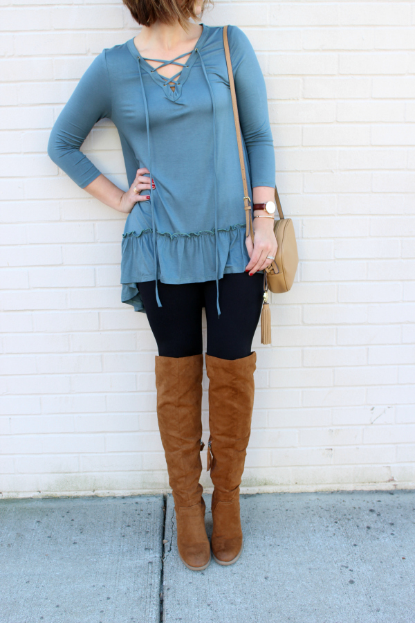 bohoblu, boho chic, over the knee boots, style on a budget, mom style blogger