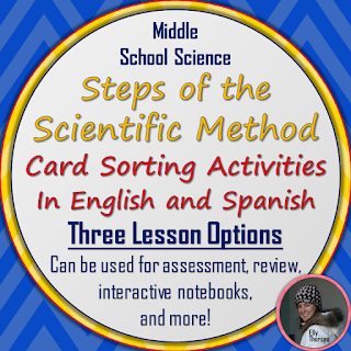 Steps of the Scientific Method Card Sorting Activities