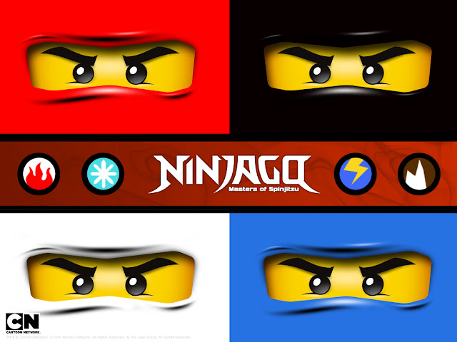 Ninjago Etiquetas Invitaciones Im225genes y Toppers para