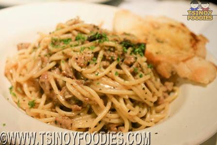 truffled mushroom and sausage pasta