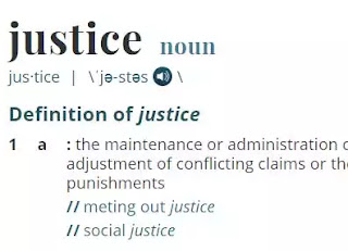 Justice' is Webster's word of the year