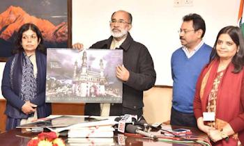 पर्यटन मंत्रालय द्वारा 2018 के 'अतुल्य भारत डिजिटल कैलेंडर', वाॅल एवं डेस्क कैलेंडर जारी
