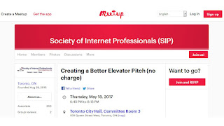 Create a Better Elevator Pitch, by Jason Reid, SIPgroup Toronto