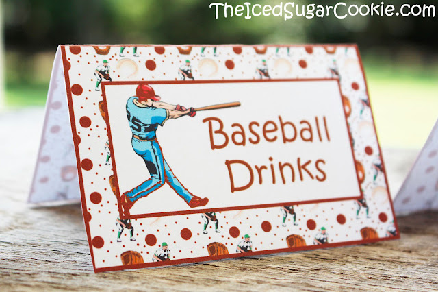 Baseball Food Cards For A DIY Baseball Birthday Party-Printable Digital Download Template-Baseball Drinks, Baseball Cakes, Baseball Treats, Baseball Pizza