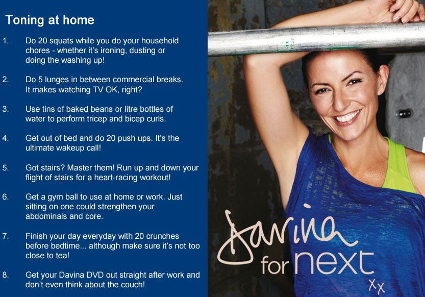 Working Out With The Davina Range At Next